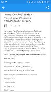 Download Koleksi Puisi Perjuangan Pahlawan For Pc Windows And Mac Apk Screenshot
