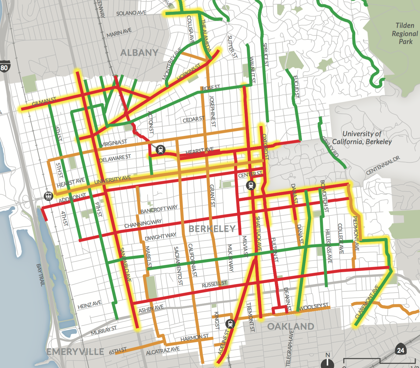 Berkeley Tier 1 Priority Bike Network.png