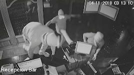 Captura de las imágenes tomadas por las cámaras de seguridad del establecimiento