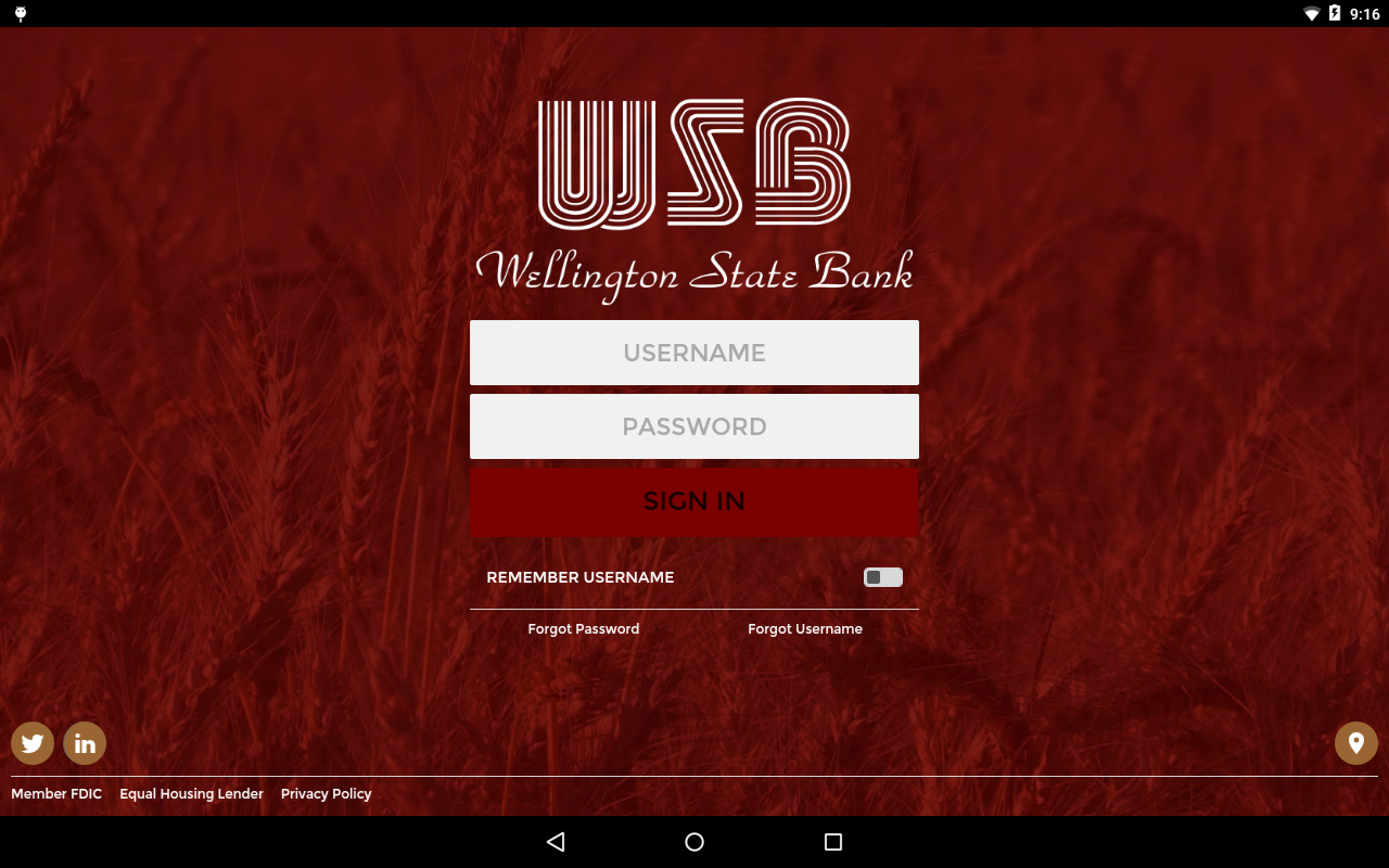 Wellington State Bank- screenshot