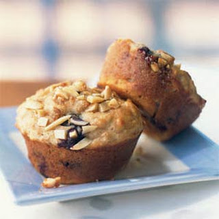 Blueberry Power Muffins with Almond Streusel.