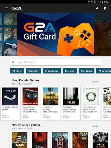 G2A - Game Stores Marketplace Screenshot