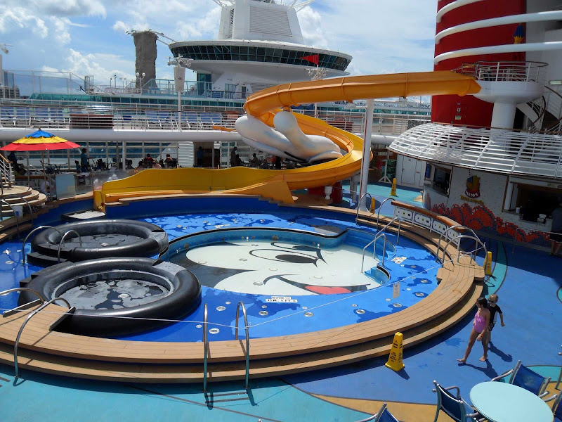 The children's pool on Disney Wonder.
