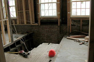 Photo: January 2005 - Month 17: Original stair from 2nd to 3rd floors removed. Saba's living room just got 1/3 larger!