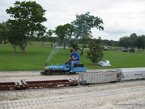 Photo: Kari Wirth on Simpson 2-6-0.  HALS-SLWS 2009-0522