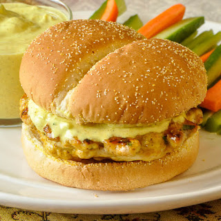 Curry Chicken Burgers.