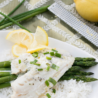 Tilapia with a Lemon Cream Sauce.