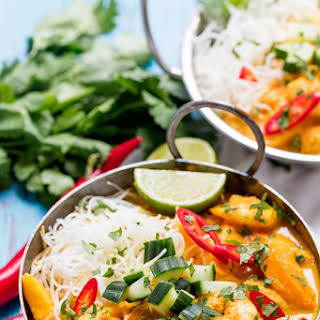Prawn and Mango Curry Noodle Bowl.