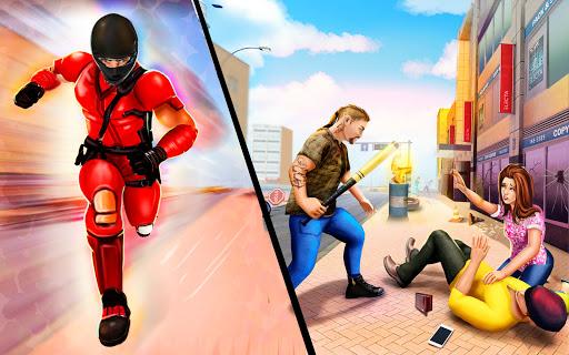 Flying Ninja Rope Hero: Light Speed Ninja Rescue apklade screenshots 2