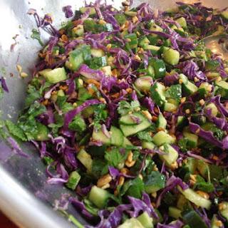 Roasted Peanut & Cucumber Salad