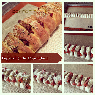 Pepperoni Stuffed French Bread.