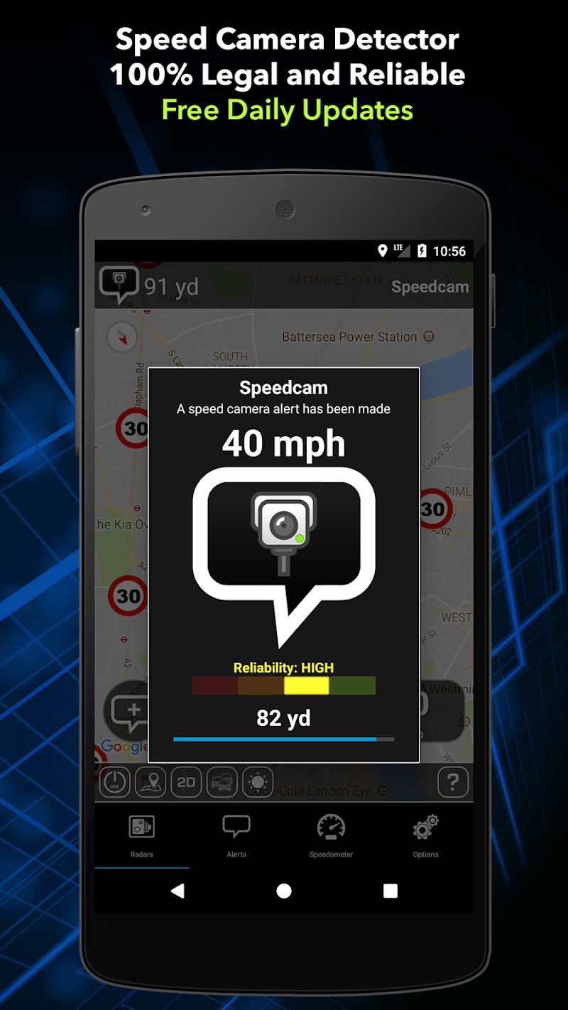 Radarbot Pro: Speed Camera Detector & Speedometer Screenshot 0