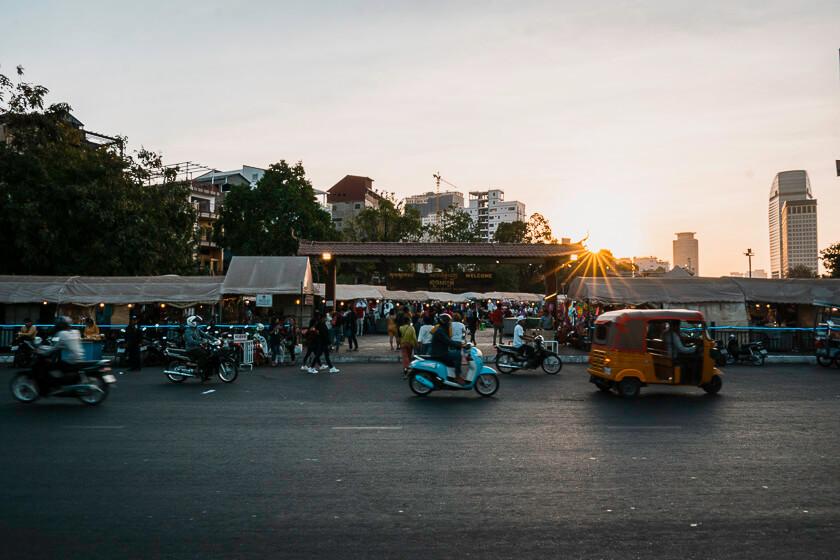 Night market in Phnom Penh.