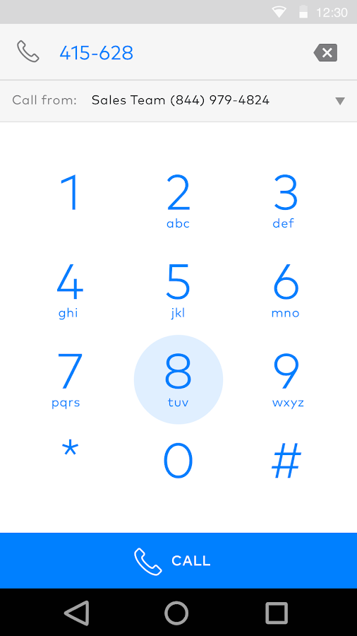 Dialpad- screenshot