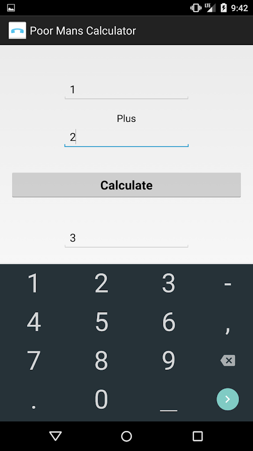 Poor Man Calculator- screenshot