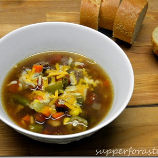 Vegetable and Beef Soup.