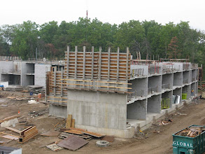 Photo: 3rd floor north wing masonry wall construction- Aug 27, 2012