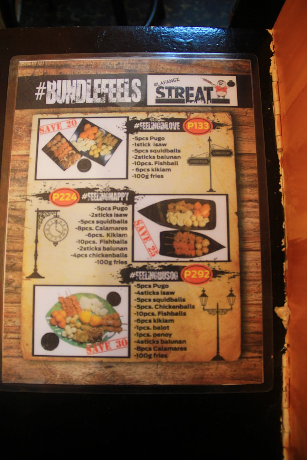 LafangzStreats Menu