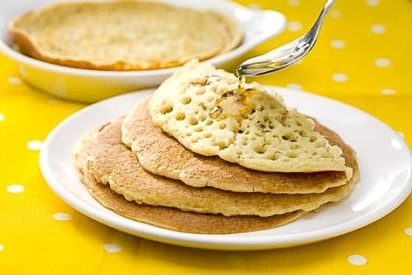 Baghrir,  Semolina Pancakes With Honey Butter Recipe