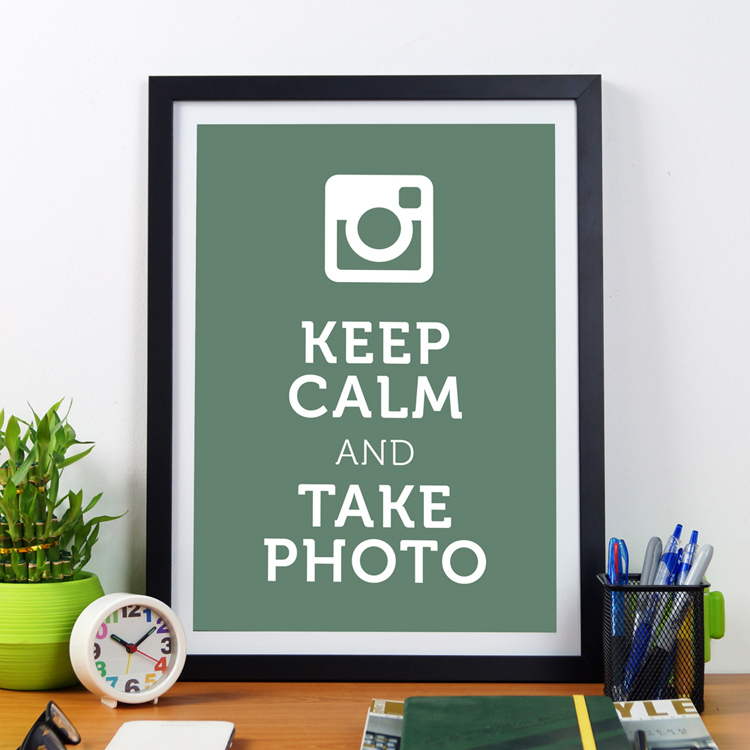 Keep Calm And Take Photo | Framed Poster by Artwave Asia