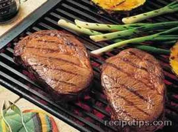 Pineapple Soy Glazed Beef Steaks