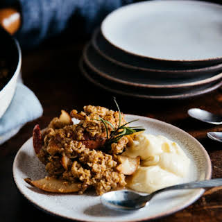 APPLE AND PEAR OAT CRUMBLE w/ ROSEMARY.