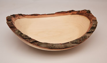 "Photo: BILL LONG – 11"" x 7"" Natural-Edge, Thick Wall Bowl – [Maple]"
