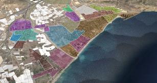 Mapa de microsectorización en Aguadulce, Roquetas de Mar.