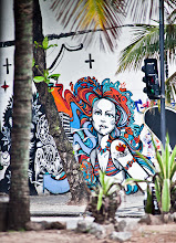 """Photo: """"Her Name is Rio""""  Last post today for #StreetArtSunday - Of all of the pieces in Rio, this was my favorite one. Located just off of Copacabana beach we nicknamed this piece the """"beautiful girl of Rio""""  I believe the artists are Ment & Bragga, I would appreciate help in identifying the title of this work.  #Streetart #Brazil #Brasil #Graffiti"""