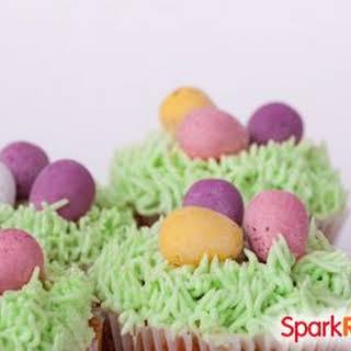 Vanilla Easter Grass Cupcakes.