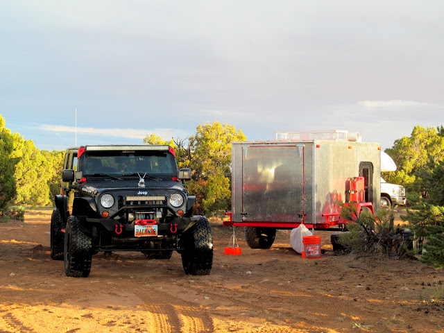 Ken's Jeep and hand-built trailer