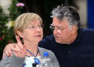 Photo: Das Eheparr JAHNA, Merker-Freunde und Leser. Foto: Barbara Zeininger
