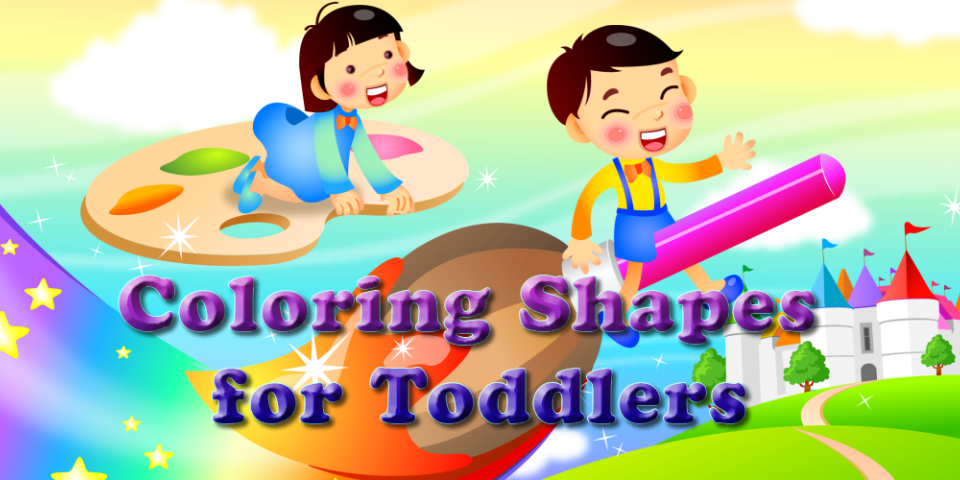 Coloring Shapes for Toddlers- screenshot