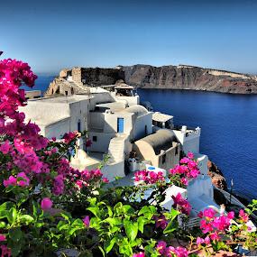 Santorini, Greece 3 by Costas Tsirgiotis - Landscapes Travel