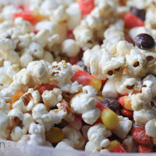 Halloween Candied Popcorn.