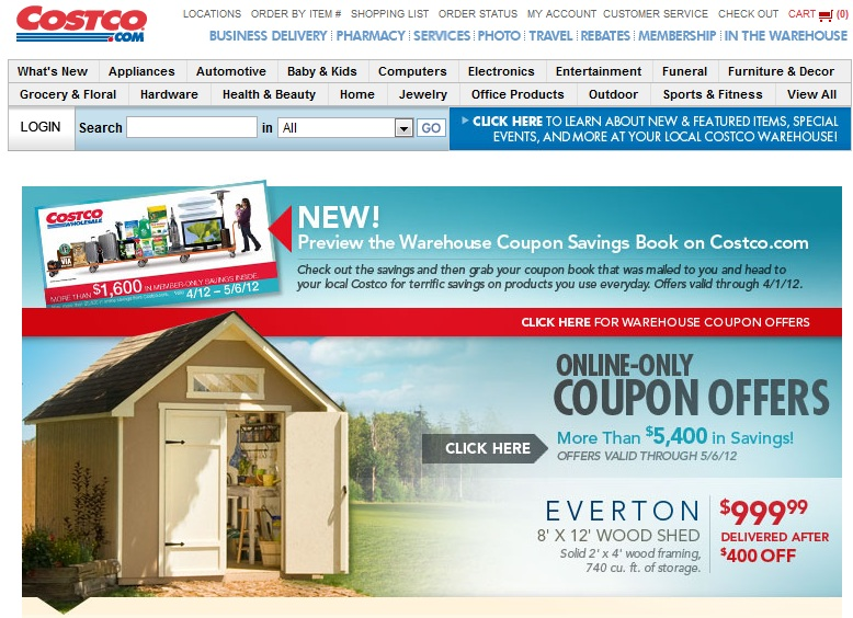 Photo: I checked the Costco.com website just to see if there were any online coupons available before heading out, but there weren't any for the items I needed.