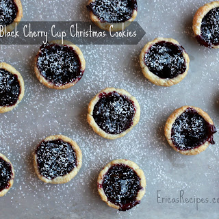 Black Cherry Cup Christmas Cookies