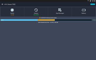 Screenshot of AVG Cleaner & Battery Saver
