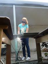 Photo: Plasmaschneiden der Wasserrad - Innenornamente TECHNIK begeistert!