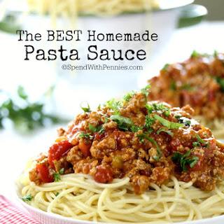 The Best Homemade Pasta Sauce.