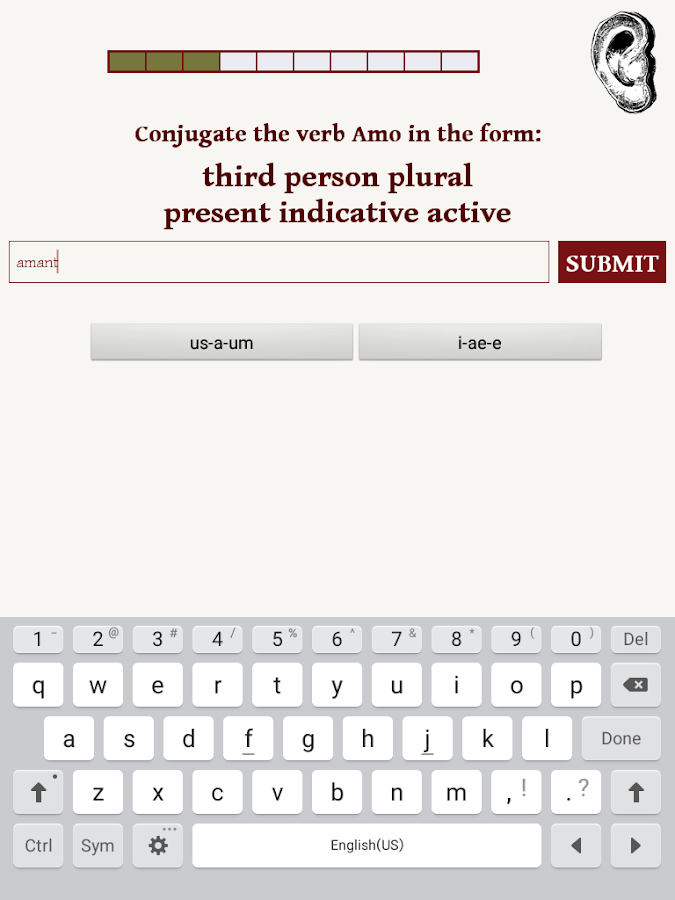 Vice Verba - Latin Verb Game- screenshot