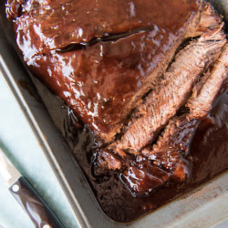 Slow Roasted Oven BBQ Beef Brisket.