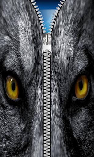 Wolf Zipper Screen lock