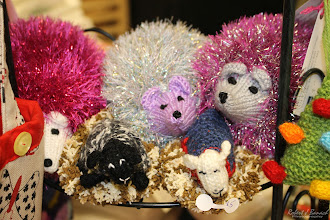 Photo: Hedgehogs and lambs by Linda Veach, of crazygamma, at Delmarva Wool & Fiber Expo 2015 (Fall) | Photograph Copyright Robert J Banach #oceancitycool