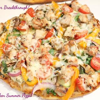 Grilled Chicken Summer Pizza!