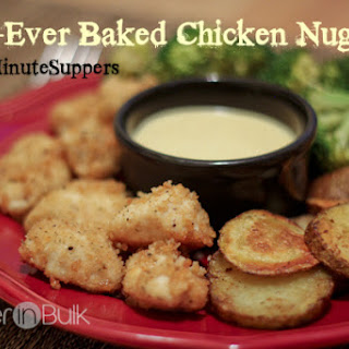 Best-Ever Baked Chicken Nuggets #15MinuteSuppers.