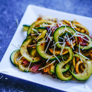 Summer Squash Zoodles with Bacon [Recipe]