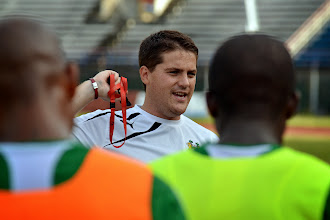 Photo: Head Coach Johnny McKinstry  [Leone Stars Training Camp, in advance of Equatorial Guinea, Sept 2013 (Pic: Darren McKinstry)]