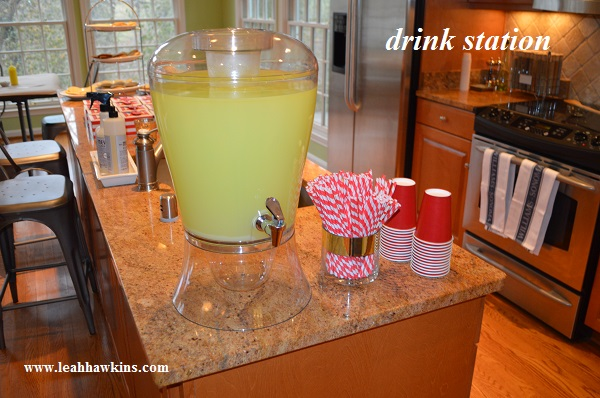 lemonade drink station