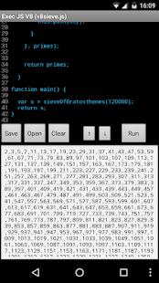 Exec Javascript V8 - náhled
